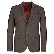 Buy Ted Baker Mupperz Wool Blazer, Brown Online at johnlewis.com