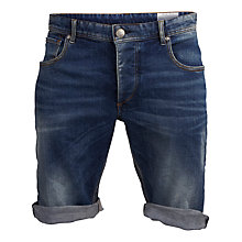 Buy Selected Homme Cotton Shorts, Medium Blue Denim Online at johnlewis.com