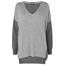 Buy Phase Eight Henrietta Colour Block Jumper, Grey Online at johnlewis.com