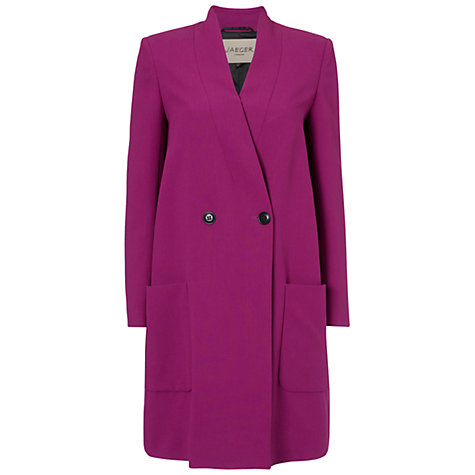 Buy Jaeger Compact Swing Coat, Magenta Online at johnlewis.com
