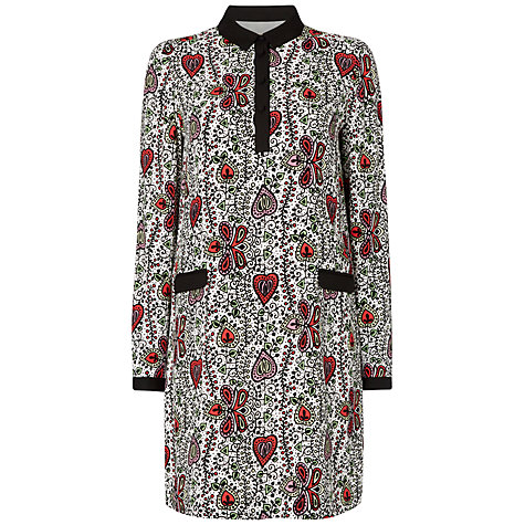 Buy Boutique by Jaeger Vine Print Shirt Dress, Multi Ivory Online at johnlewis.com
