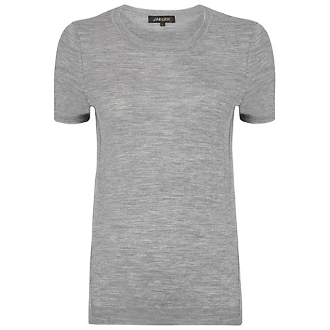 Buy Jaeger Fine Gauge Merino Under Piece Jumper, Grey Online at johnlewis.com