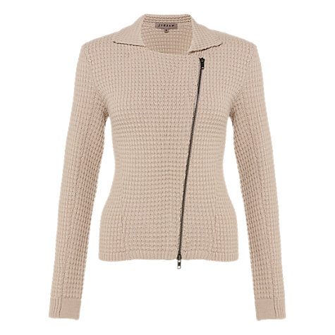 Buy Jigsaw Cashmere Blend Cardigan, Stone Online at johnlewis.com