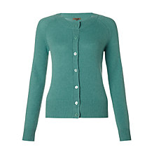 Buy Jigsaw Cashmere Raglan Cardigan, Green Online at johnlewis.com