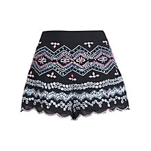 Buy Miss Selfridge Embellished Ethnic Shorts, Black Online at johnlewis.com