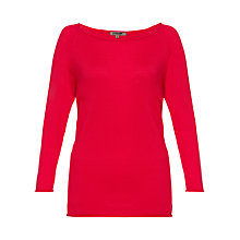 Buy Jigsaw Boat Neck Sweater, Bright Pink Online at johnlewis.com