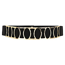 Buy Warehouse Wide Metal Belt, Black Online at johnlewis.com