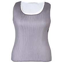 Buy Chesca Reversible Pleated Camisole, Grey/Ivory Online at johnlewis.com