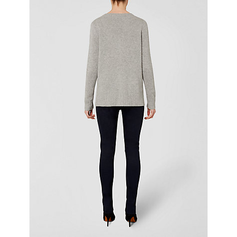 Buy Jaeger Cashmere Stepped Hem Jumper, Grey Online at johnlewis.com