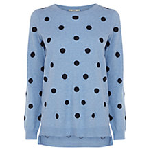 Buy Oasis Spot Jumper, Light Blue Online at johnlewis.com