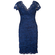 Buy Chesca Layered Scallop Lace Dress, Navy Online at johnlewis.com