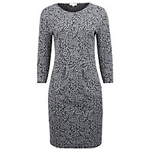 Buy Kaliko Floral Jacquard Dress, Grey Online at johnlewis.com