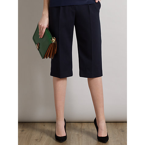Buy Somerset by Alice Temperley Cropped Trousers, Navy Online at johnlewis.com