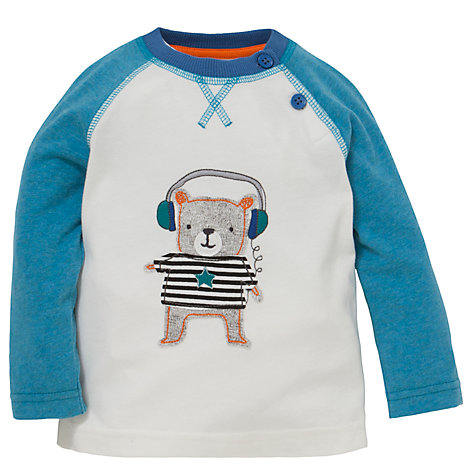 Buy John Lewis Headphone Bear T-Shirt, White/Blue Online at johnlewis.com