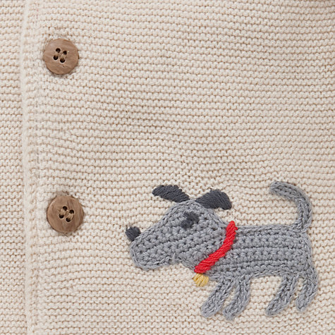 Buy John Lewis Hooded Knit Cardigan with Ears, Oatmeal Online at johnlewis.com