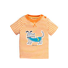 Buy John Lewis 'Super Dog' Stripe T-Shirt, Orange Online at johnlewis.com