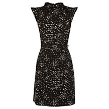 Buy Oasis Star Print High Neck Dress, Multi Black Online at johnlewis.com