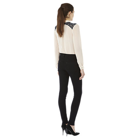 Buy Warehouse Super Soft Skinny Trousers, Black Online at johnlewis.com