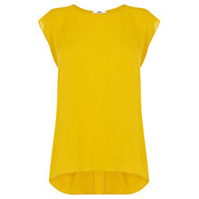 Buy Oasis Pleat Back Chiffon Top, Ochre Online at johnlewis.com