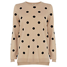 Buy Oasis Spot Jumper, Light Neutral Online at johnlewis.com