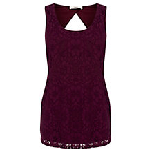Buy Oasis Lace Longline Vest, Dark Purple Online at johnlewis.com