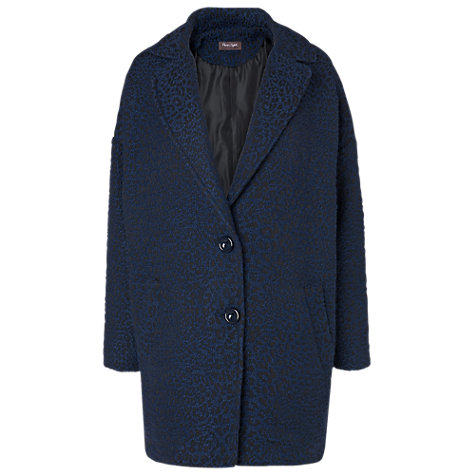 Buy Phase Eight Tania Textured Crombie Coat, Black/Navy Online at johnlewis.com