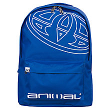 Buy Animal Albay Logo Print Backpack, Blue Online at johnlewis.com