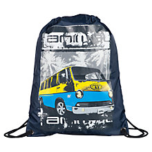 Buy Animal Campervan Print Drawstring Backpack, Navy/Multi Online at johnlewis.com