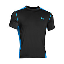 Buy Under Armour Vent Short Sleeve T-Shirt, Black/Blue Online at johnlewis.com