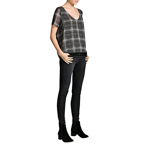 Buy Mango Super Slim Fit Jeans, Black Online at johnlewis.com