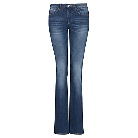 Buy Mango Straight Fit Jeans, Medium Blue Online at johnlewis.com