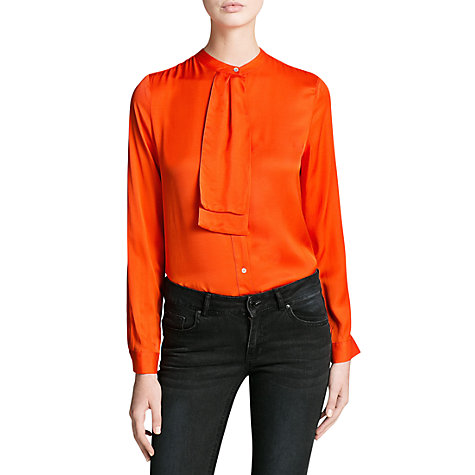 Buy Mango Waterfall Detail Blouse, Orange Online at johnlewis.com
