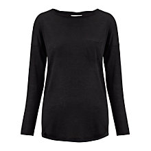 Buy Whistles Lacie Wool Mix Top, Black Online at johnlewis.com