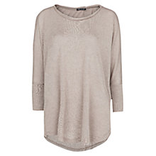 Buy Mango Dolman Sleeve Flowy T-Shirt, Light Pastel Brown Online at johnlewis.com