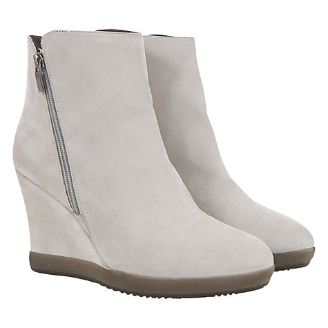 Buy Mint Velvet Nubuck Wedge Ankle Boots, Stone Online at johnlewis.com