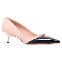 Buy Kurt Geiger Cordelia Kitten Heels, Nude/Navy Online at johnlewis.com