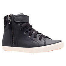 Buy Carvela Juniper Strap and Lace Trainers, Black Online at johnlewis.com