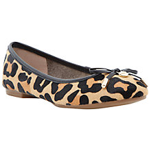 Buy Dune Malmo Flat Bow Detail Ballerina Pumps, Leopard Pony Online at johnlewis.com