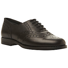 Buy Bertie Lilirose Leather Brogues, Black Online at johnlewis.com
