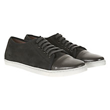 Buy Mint Velvet Suede Plimsolls, Grey Online at johnlewis.com