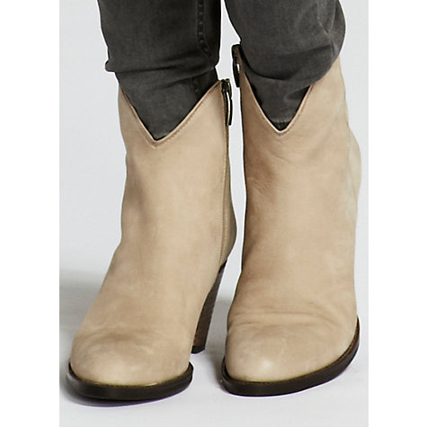 Buy Mint Velvet Nubuck Ankle Boots, Latte Online at johnlewis.com