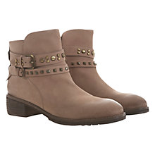 Buy Mint Velvet Nubuck Studded Ankle Boots, Mole Online at johnlewis.com