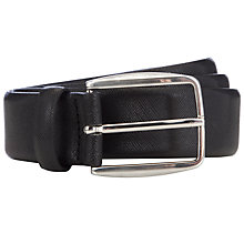 Buy John Lewis Textured Leather Belt, Black Online at johnlewis.com
