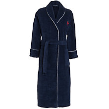 Buy Polo Ralph Lauren Heavy Towel Robe, Navy Online at johnlewis.com