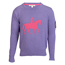 Buy Barbour Girls' Amy Horse Intarsia Knit Jumper, Purple Online at johnlewis.com