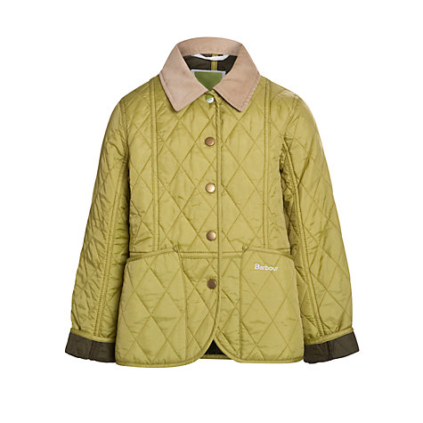 Buy Barbour Girls' Pan Optic Quilted Coat Online at johnlewis.com