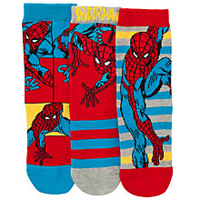 Buy John Lewis Boy Spider-Man Socks, Pack of 3, Red/Blue Online at johnlewis.com