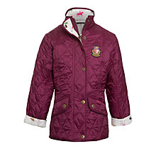 Buy Barbour Girls' Equestrian Gracie Jacket, Purple Online at johnlewis.com