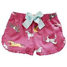 Buy Little Joule Girls' Carisa Short Pyjama Bottoms, Pink Online at johnlewis.com