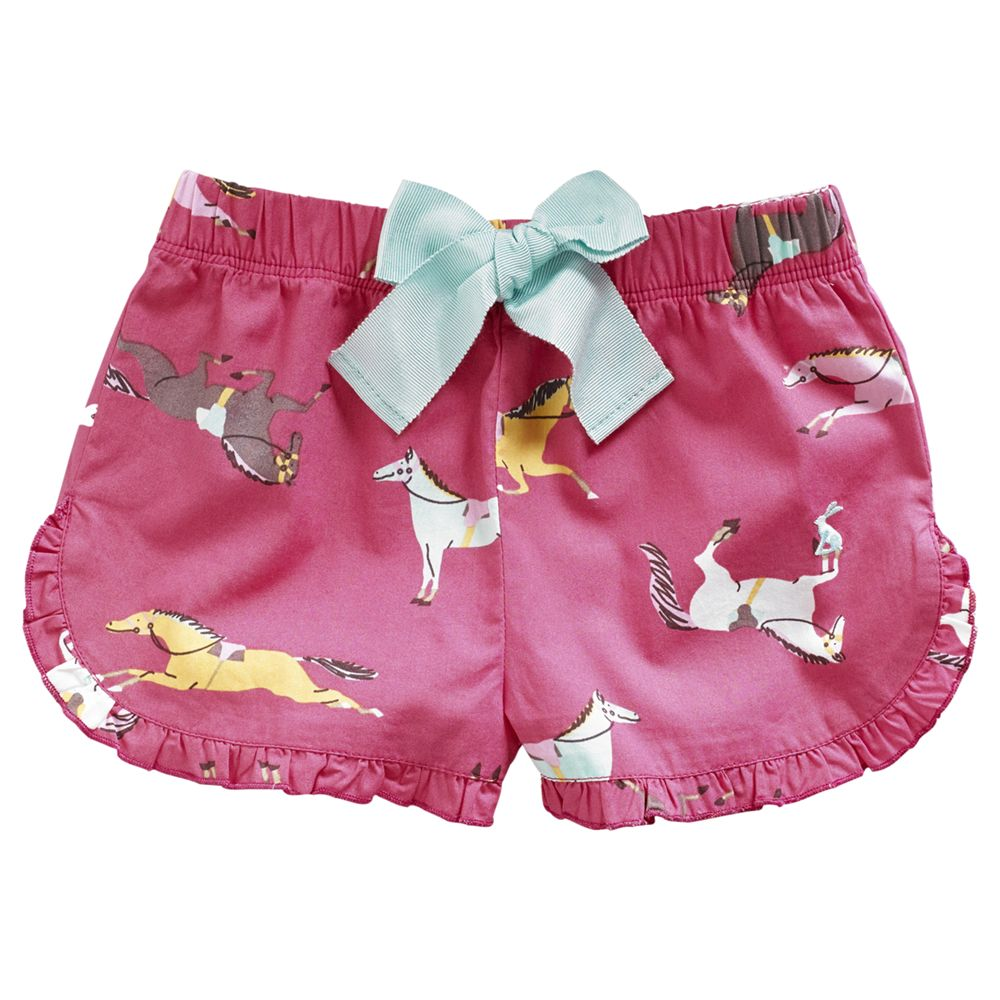 Little Joule Girls' Carisa Short Pyjama Bottoms, Pink